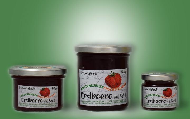 Erdbeere mit Sekt-Aufstrich Glas