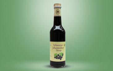 Schwarze Johannisbeer Sirup Flasche 0,35l