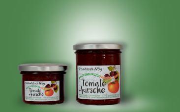 Tomate/Kirsche-Aufstrich Glas