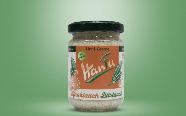 HanFu Bio-Hanf-Creme Knoblauch Bärlauch Glas 125g