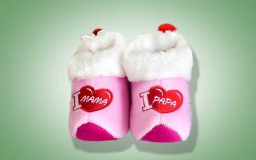 Babypantoffeln rosa Paar (Einheitsgröße)