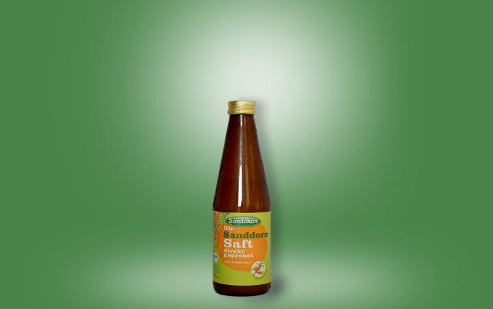 Bio Sanddornsaft direkt gepresst 100% Flasche 0,33l