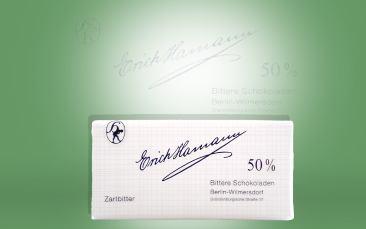 Tafelschokolade Zartbitter, Kakao 50%