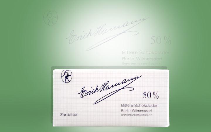 Tafelschokolade Zartbitter, Kakao 50% 100g