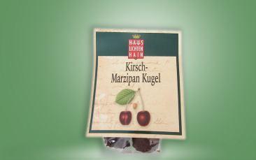 Kirsch Marzipan Kugel Tüte 30g