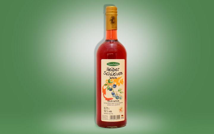 Heißer Schlehenwein Flasche 0,75l