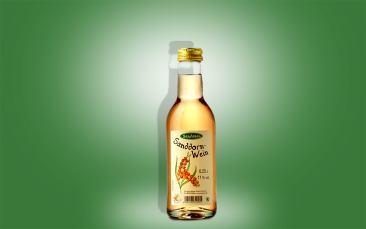Sanddornwein, Flasche