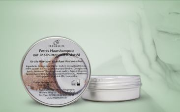Festes Haarshampoo Sheabutter-Kokosöl Dose 50g