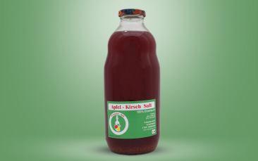 Apfel-Kirsch-Saft Flasche