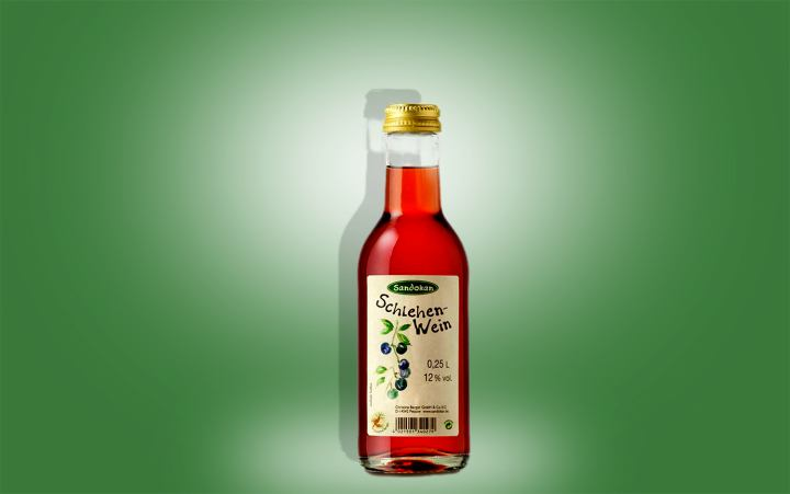 Schlehenwein, Flasche