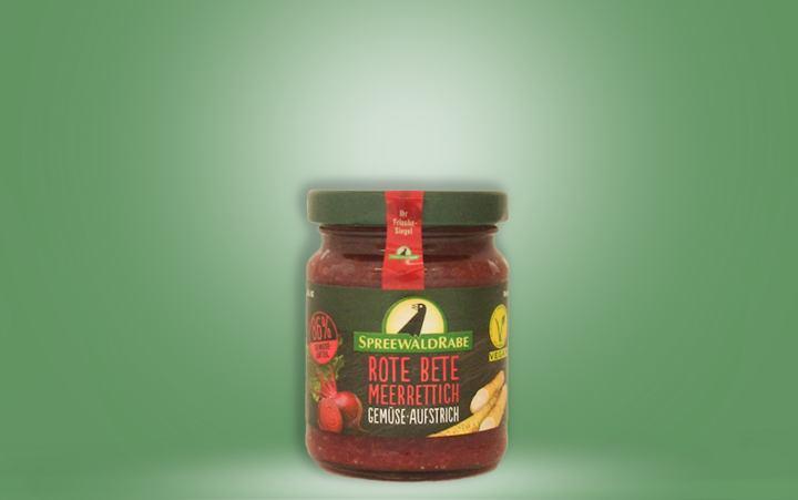 Rote Bete-Meerrettich Gemüseaufstrich Glas 135g
