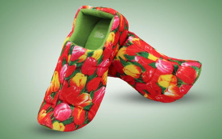Klompenpantoffeln Tulpe Paar